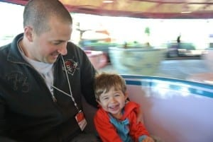 Darren and Ethan on Mad Tea Party Teacups