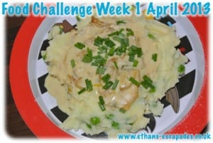 Creamy Tarragon Chicken Served With Mash and Peas