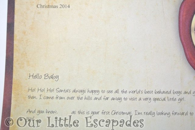 Baby's First Christmas letter from santa