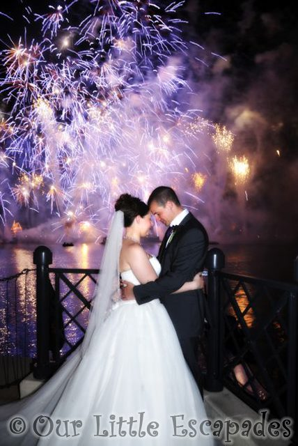 jane darren epcot fireworks disney wedding