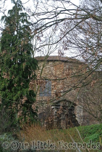 colchester castle through trees