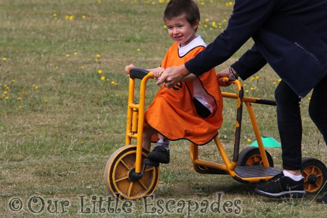 ethan trike race first school sports day