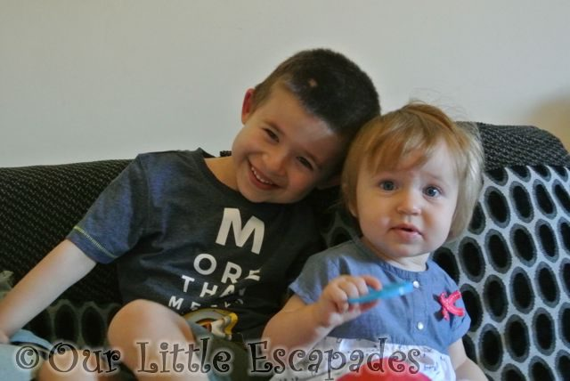 ethan cuddles little e 14 months old