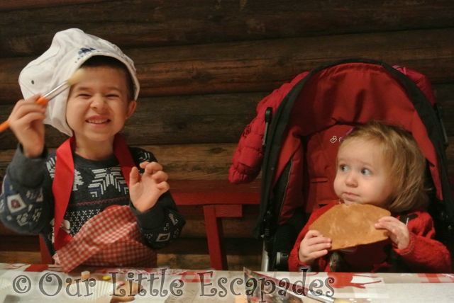 ethan laughing little e eating gingerbread lapland uk December 2015