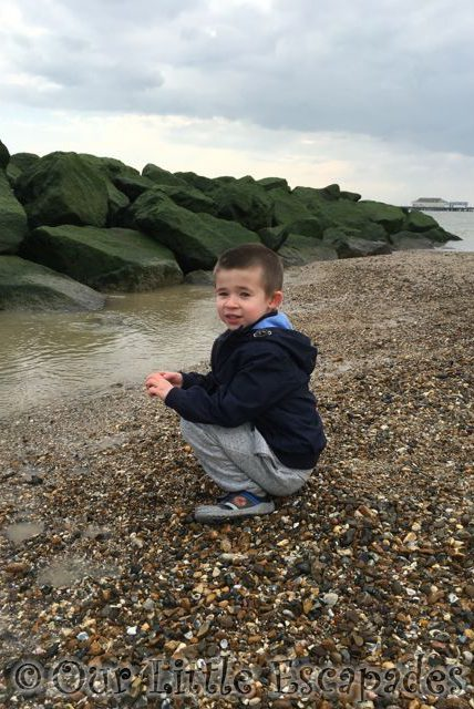 ethan sitting stone area clacton beach Deep in Thought
