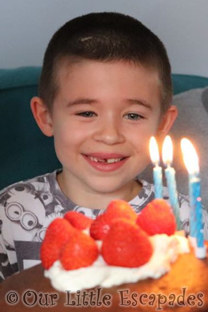 Ethan and his birthday cake