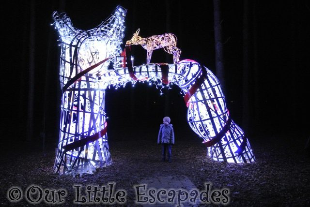 ethan reindeer christmas lights center parcs winter wonderland elveden forest