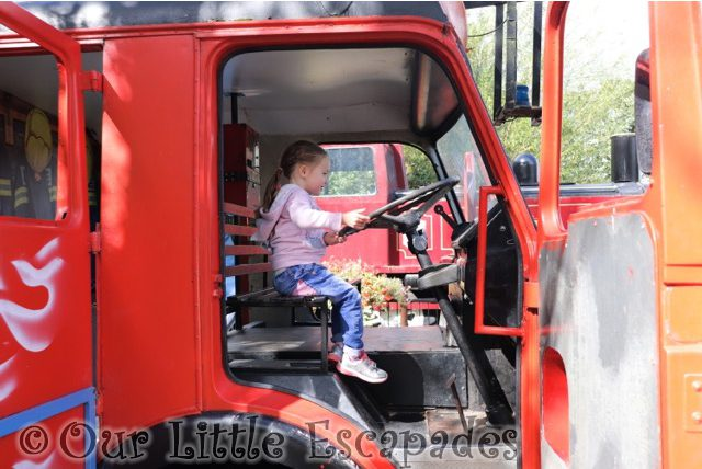 paradise wildlife park fire engine adventureland