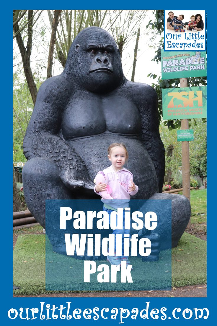 visiting paradise wildlife park