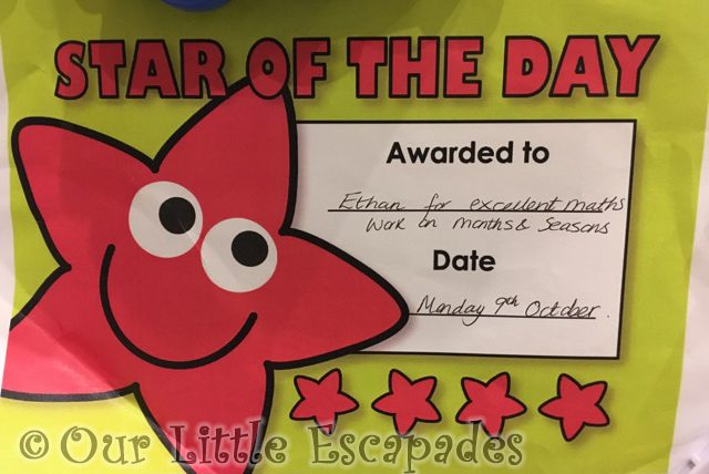 star of the day months year