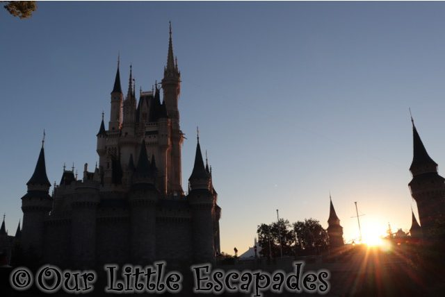 cinderella castle morning sunlight walt disney world