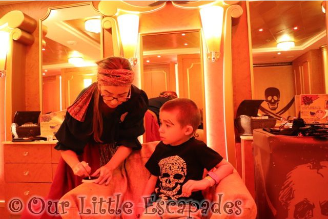 ethan eyebrows pirate makeover pirates league disney cruise