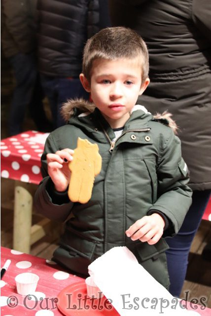 ethan gingerbread man marsh farm father christmas experience