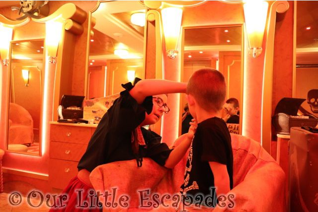 Pirates League on a Disney Cruise - The Pirate Makeover