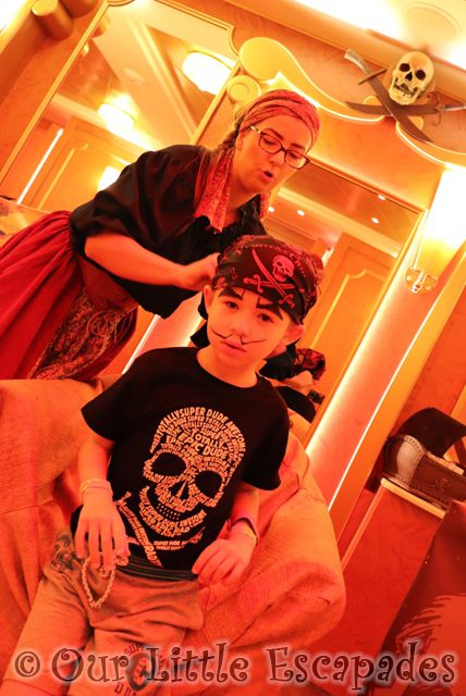 ethan pirates league disney cruise pirate makeover