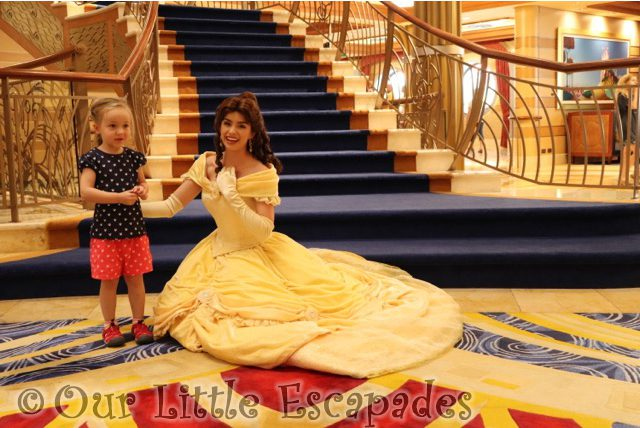 little e belle beauty and the beast disney cruise princess gathering