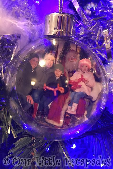 our family photo santa personalised christmas bauble father christmas experience marsh farm
