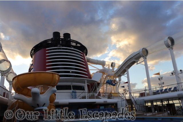 The AquaDuck Disney Cruise Ship Water Slide