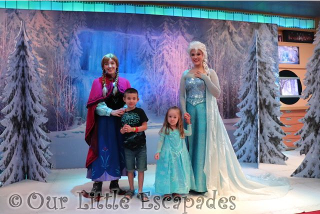 ethan little e anna elsa disney cruise line frozen meet and greet