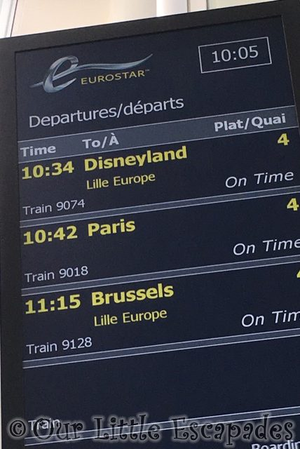 eurostar departures board disneyland paris