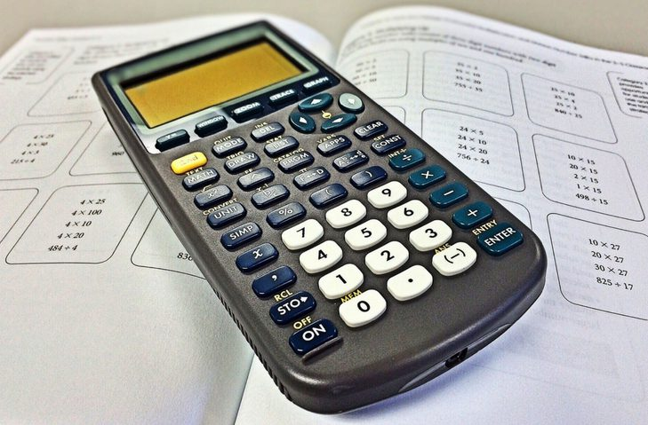 calculator maths book