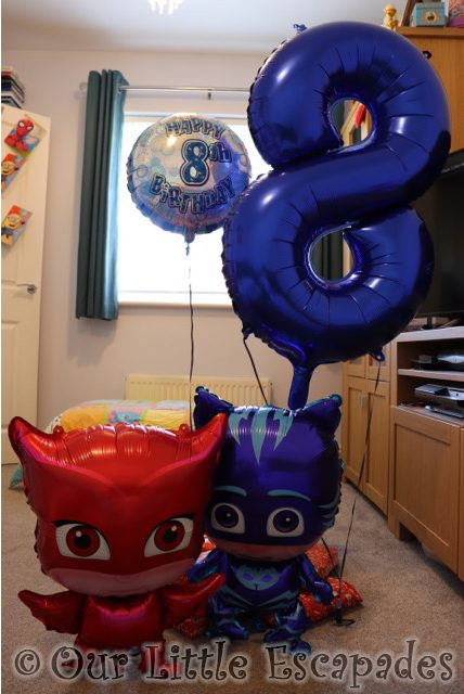 eighth birthday balloons pj masks