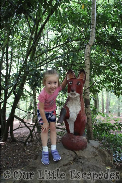 gruffalo trail fox little e thorndon country park