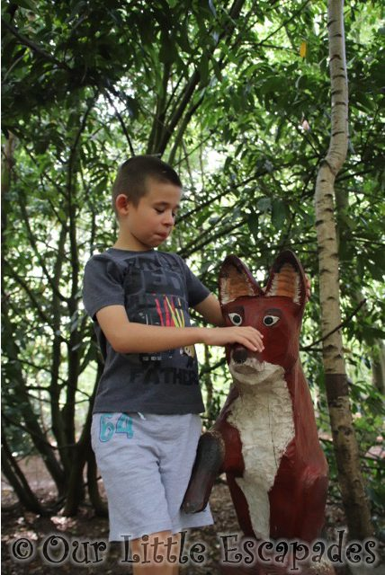 gruffalo trail fox thorndon country park