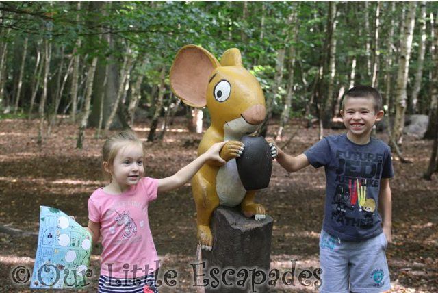 gruffalo trail mouse thorndon country park