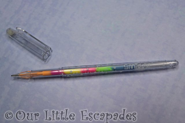 rainbow gel pen