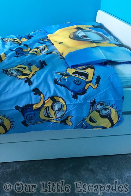 Growing Up A Bedroom bedroom makeover minion bedding