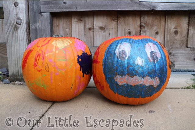 Pumpkin Painting With Little Brian Paint Sticks