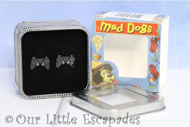 christmas gifts him mad dogs cufflinks black games controller