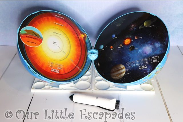 earths core solar system oregon scientific smart globe explorer