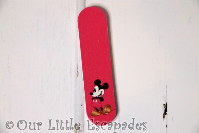 mickey mouse advent calendar nail file