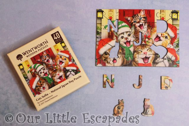 wentworth wooden puzzle micro puzzle cat selfie national jigsaw day