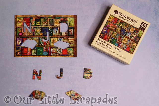 wentworth wooden puzzle micro puzzle festive bookshelf national jigsaw day