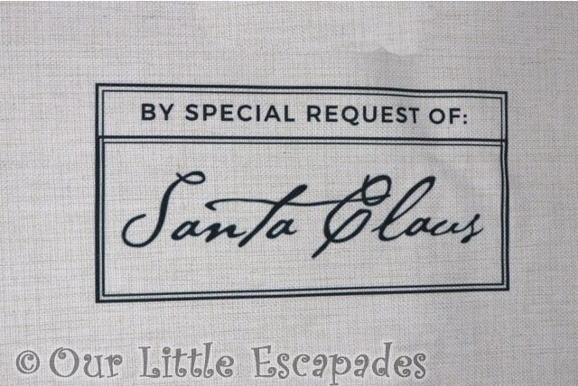 magic santa letter personalised santa sacks santa claus signature