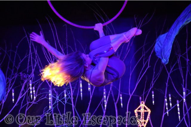 the christmas spectacular show stonham barns acrobatics