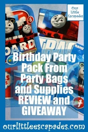Birthday Party Pack From Party Bags and Supplies REVIEW and GIVEAWAY