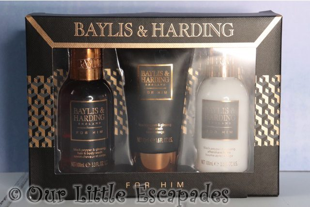 baylis harding mens black pepper ginseng small 3 piece set valentines day gift ideas
