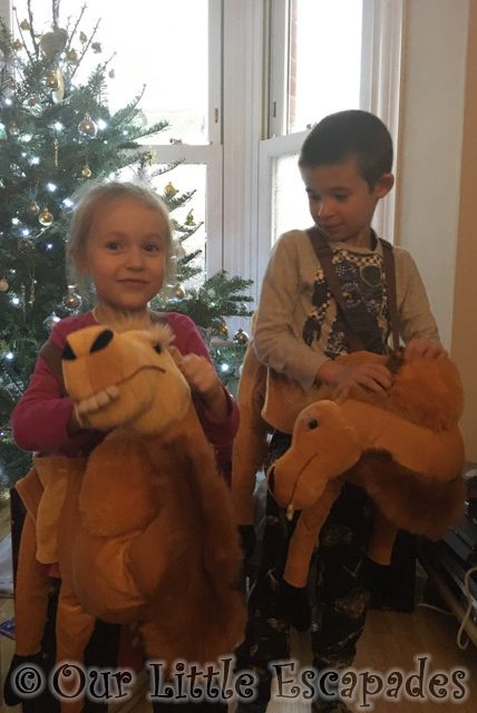 ethan little e dressed as camels siblings jan 19