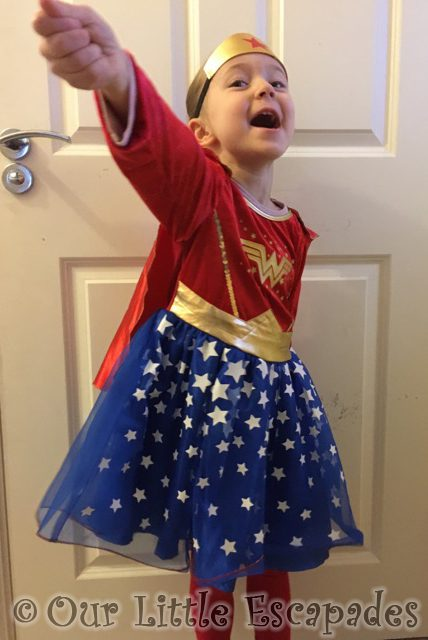 little e wonder woman superhero day