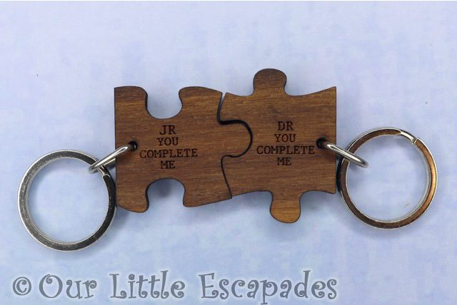 you complete me couples jigsaw keyring valentines day gift ideas