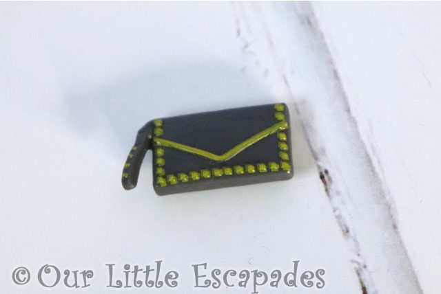 off the hook style dolls grey clutch bag