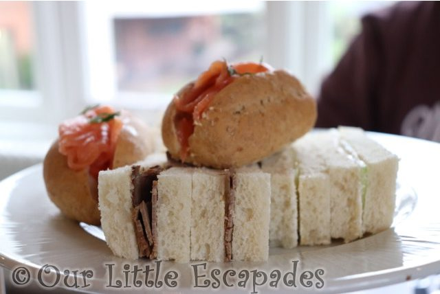 red letter days afternoon tea at wivenhoe house sandwiches