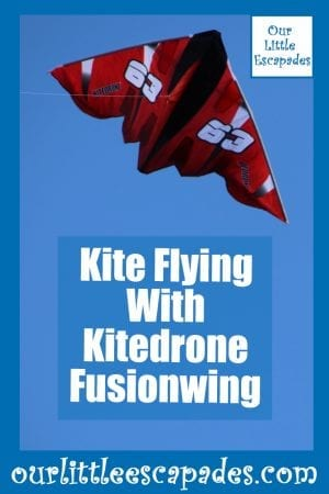Kite Flying With Kitedrone Fusionwing