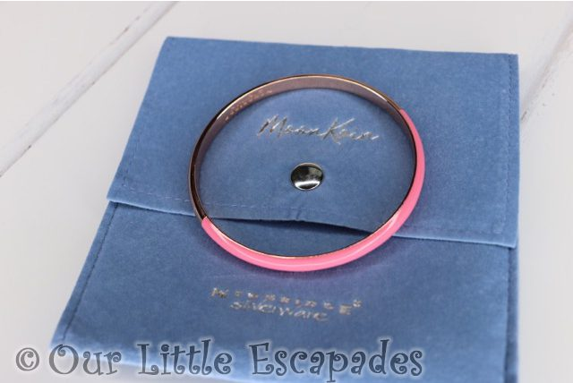 rose gold plated half enamel pink bangle