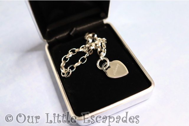 sterling silver link bracelet heart Mothers Day Gift Ideas