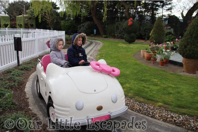 ethan little e hello kitty car ride hello kitty secret garden drusillas park
